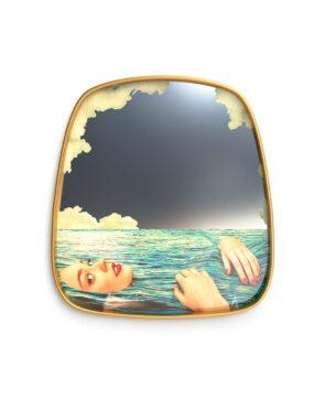 Gold mirror sea girl